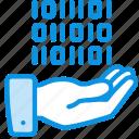 data, share, hand