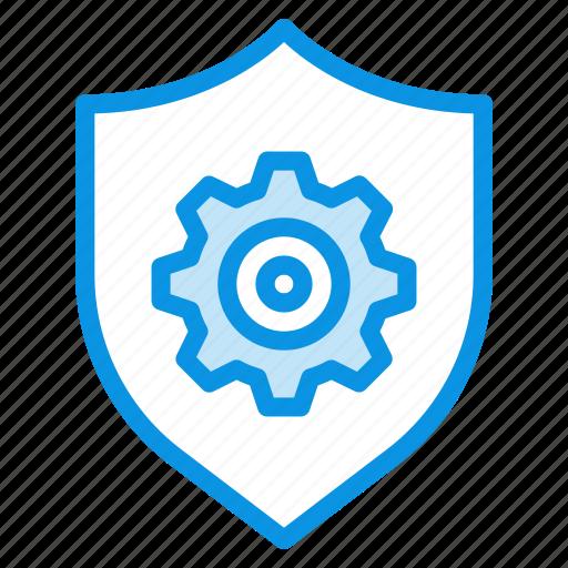 control, security, shield icon