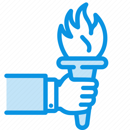 fire, hand, olympics icon