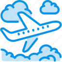 clouds, flight, plane icon