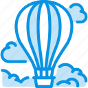 air baloon, clouds, flight icon