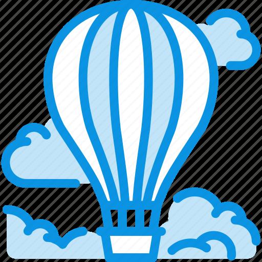 air baloon, clouds, flight icon