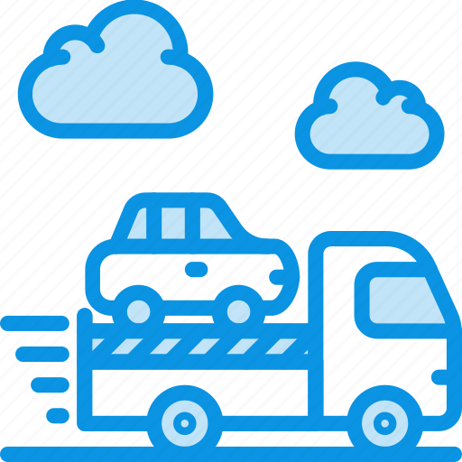 car, delivery, evacuator icon
