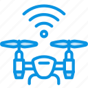 drone, flying, wireless icon
