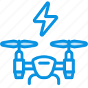 airdrone, drone, power icon