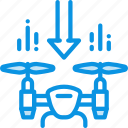 drone, land, quadcopter icon