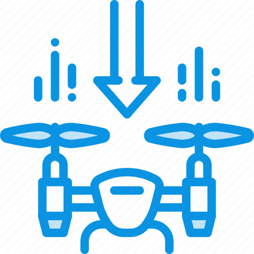drone, land, quadcopter icon