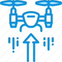 airdrone, copter, drone, flying, quadcopter, raise, up icon