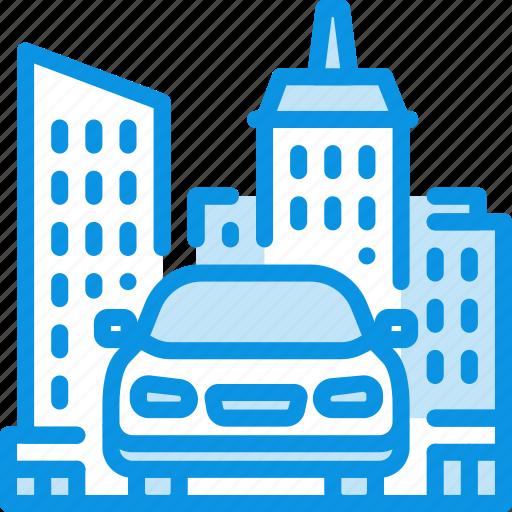 car, city, transport icon