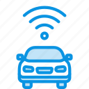 car, transport, wifi icon