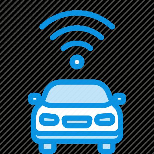 car, transport, wifi icon