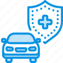 car, insurance, shield icon
