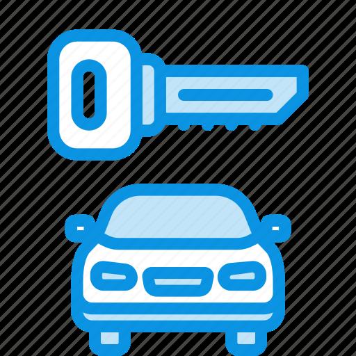 key, locked, transport icon