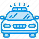 car, emergency, flashing, police, transport icon