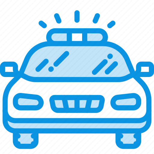 automobile, front, police icon
