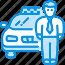 car, driver, taxi icon