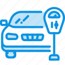 car, machine, meter, parking, transport icon