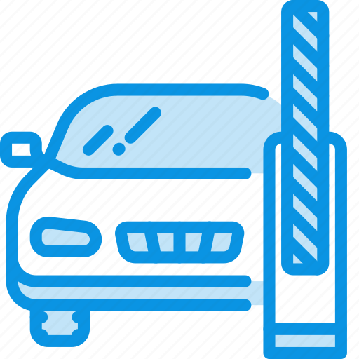 barrier, car, transport icon