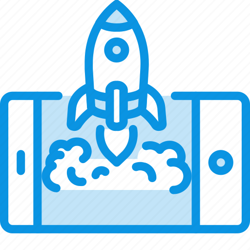 launch, mobile, rocket icon