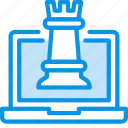 chess, laptop icon