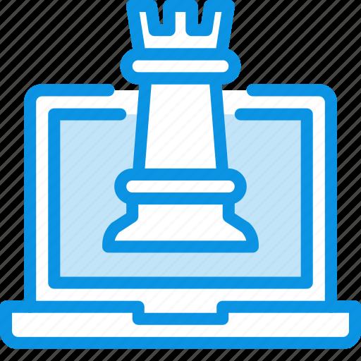 chess, laptop icon