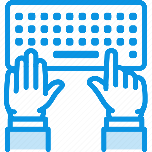 Hands, keyboard, type icon - Download on Iconfinder
