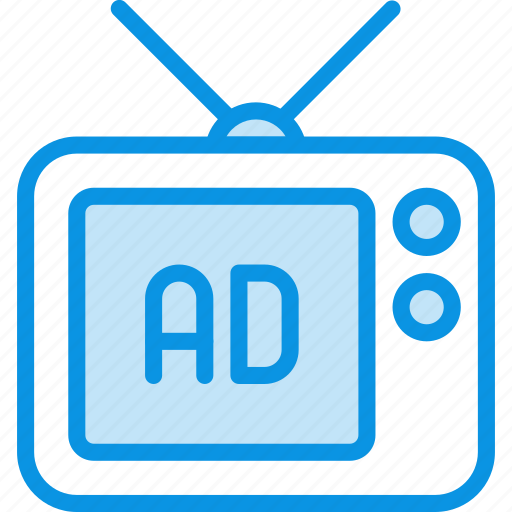 ad, advertise, tv icon