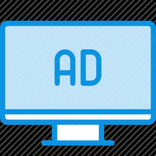 ad, sponsor, tv icon