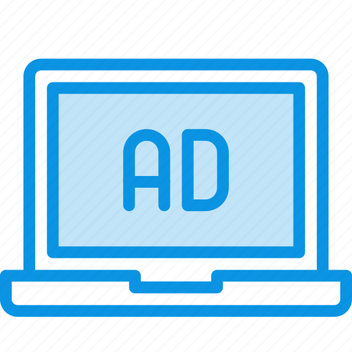 ad, advertise, laptop icon