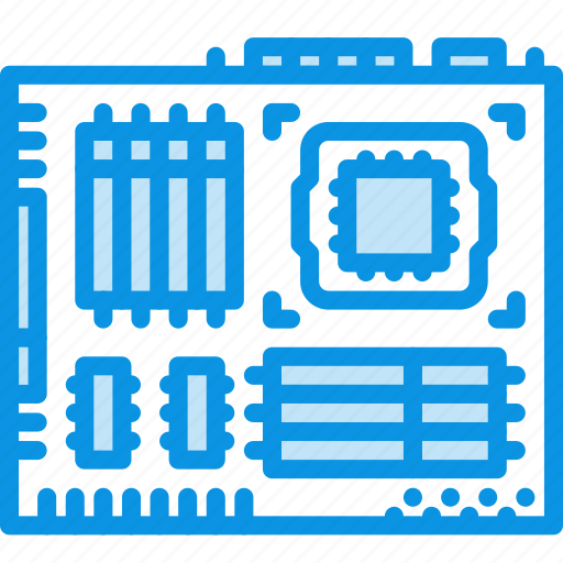 microchip, motherboard icon