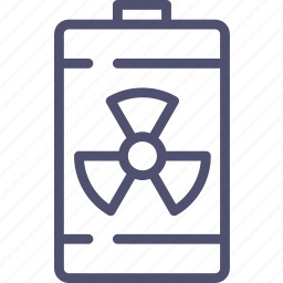 atomic, battery, endless, energy, nuclear, radiation icon