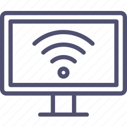 entertainment, internet, smart, smarttv, television, tv, wifi icon
