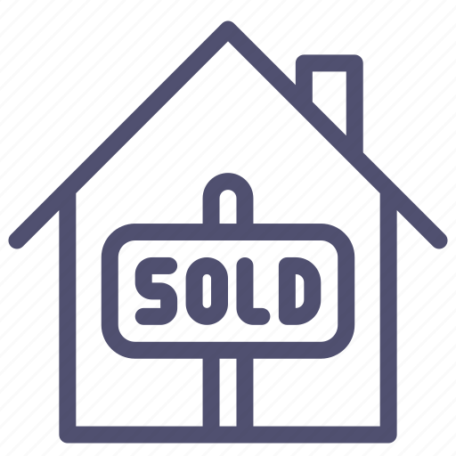 bankrupt, credit, discount, home, house, sold icon