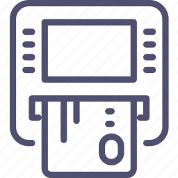 atm, card, cash, credit, dispenser, insert, money icon