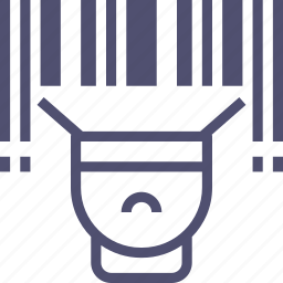 barcode, code, finance, identifier, product, scanner, store icon