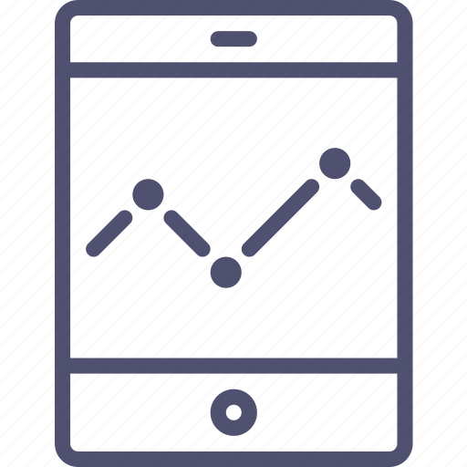 application, diagram, economic, schedule, smartphone, statistic, tablet icon