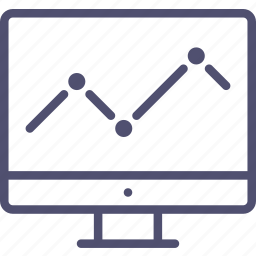 diagram, display, economic, monitor, schedule, statistic icon