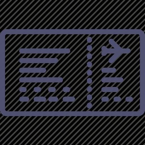 aeroport, airplane, control, ticket, transport icon