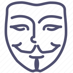 anonym, anonymous, face, hacker, mask, mimicry, vendetta icon