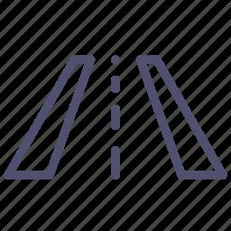 perspective, road, treadmill, trial, way icon