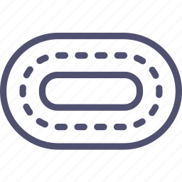 race, road, running, stadium, track, treadmill, trial icon