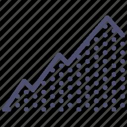hill, mountain, rise, terrain, uphill icon