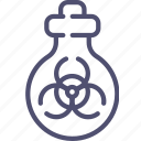 biohazard, biological, tube, mass weapon icon