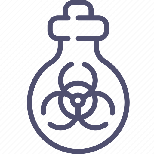 biohazard, biological, mass, tube, weapon icon
