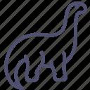 animal, brontosaurus, dinosaur, diplodocus, sauropod icon