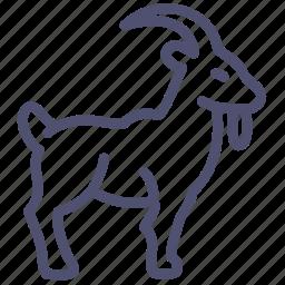 animal, goat, horns, mammal icon