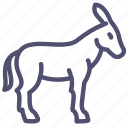 animal, burro, donkey, goat, neddy icon