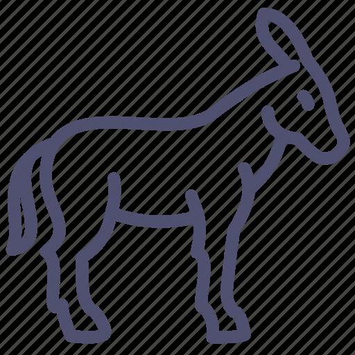 animal, burro, donkey, goat, neddy icon