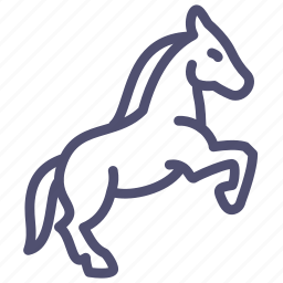 animal, equine, horse, mare, prance, stallion icon