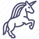 animal, fable, horse, magic, myth, unicorn, virgin icon